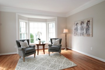 Picture of formal living room home staging with neutral colors