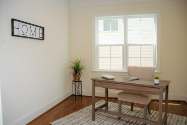 Staging of home office for new home