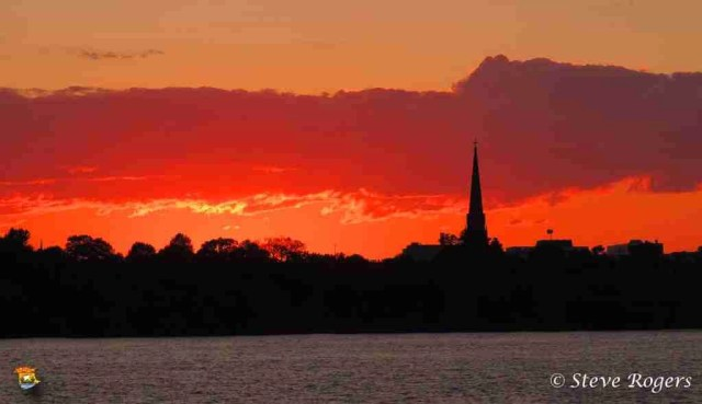 Sunset From Northside Fredericton July9,2014