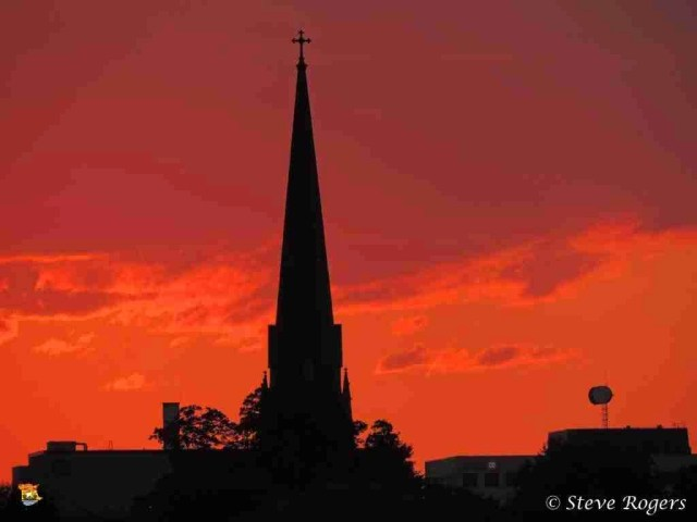 Sunset From Northside Fredericton July9,20143