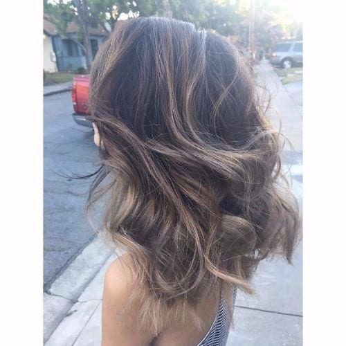 ash brown hair blonde highlights