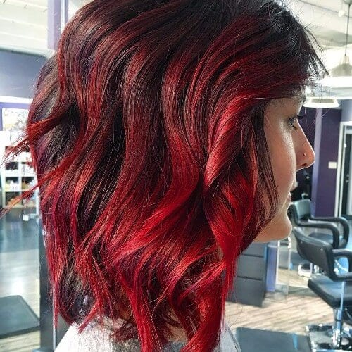 Black and Red Hair Ombre