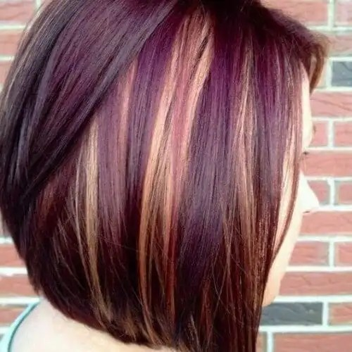 30 burgundy hair ideas for blonde red and brunette hair blonde highlights on burgundy hair urmus