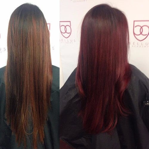 30 burgundy hair ideas for blonde red and brunette hair red burgundy hair color pmusecretfo Choice Image