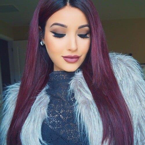 violet burgundy hair