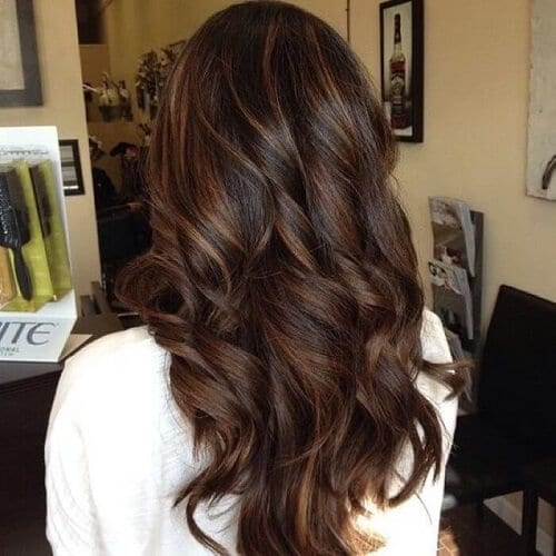 Caramel Highlights and Lowlights on Brown Hair