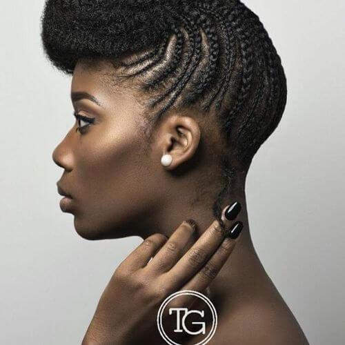braided updo for black hair