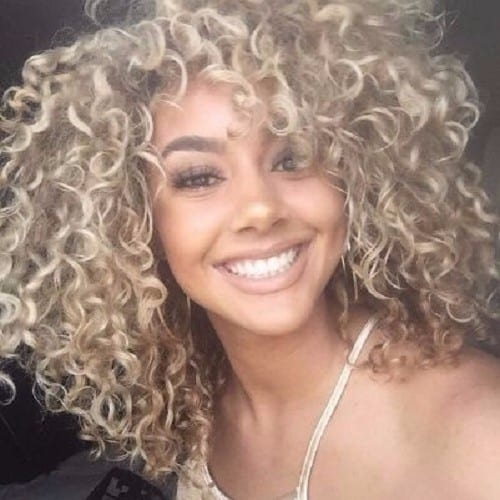 ash blonde hair curly