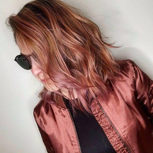 Balayage Shades of Red Hair