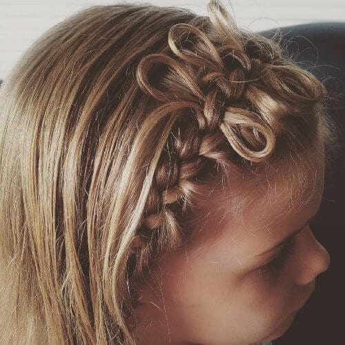 braided hair bow hairstyle