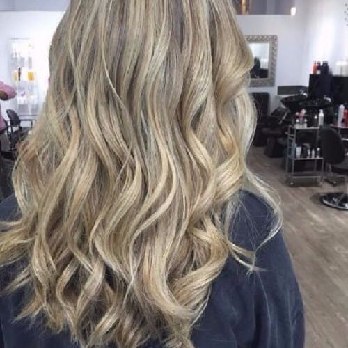 ash blonde hair wavy hair