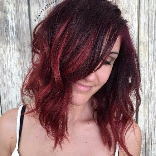 60 shades of red hair that look great on everyone red highlights on dark hair pmusecretfo Gallery