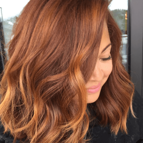 Pumpkin Spice Brown Hair Color