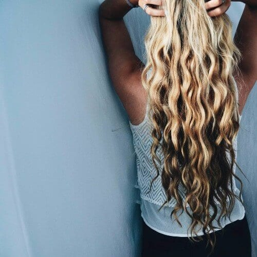 reverse ombre blonde and black hair