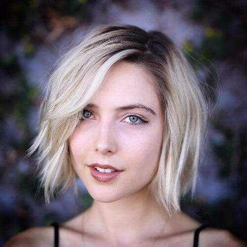 blonde hair bob haircut