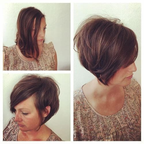 35 Short Layered Hairstyles for Women with Thin Hair - My