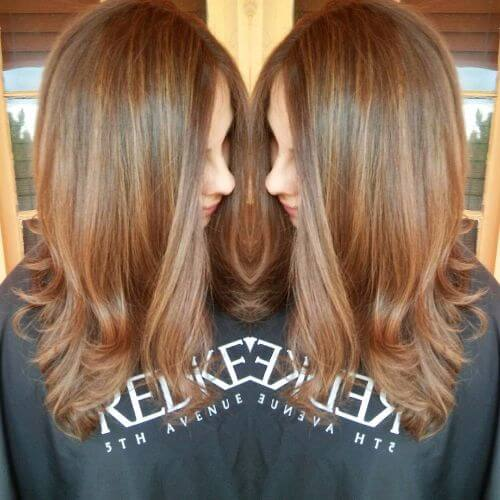 caramel highlights on caramel hair