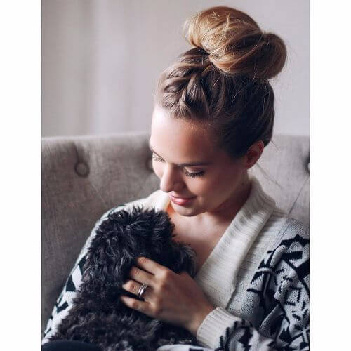 high bun braided updos