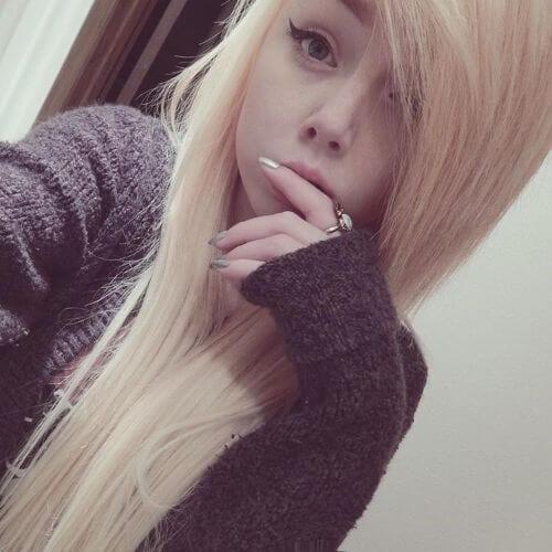 blonde hair