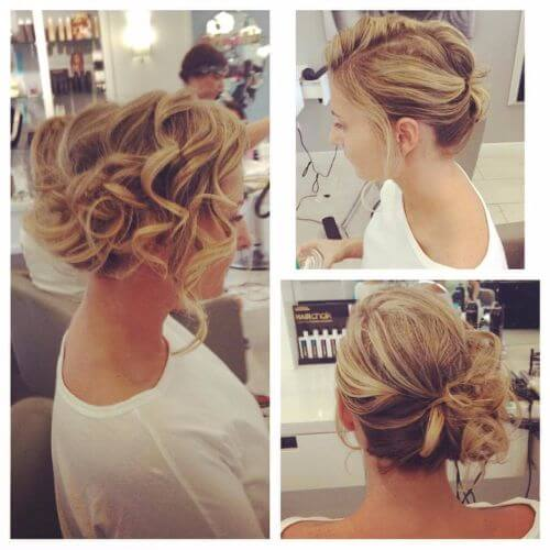 updos for short hair romantic curls