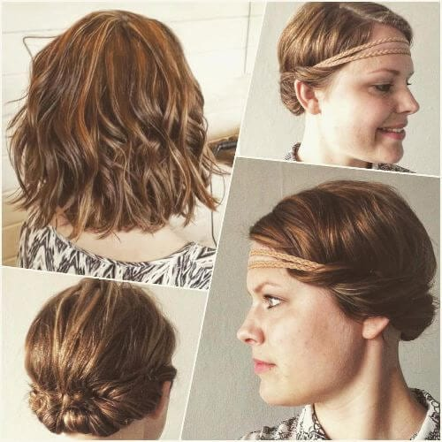 headband bun for short hair