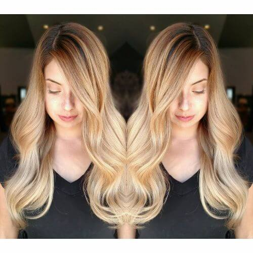 Charming Loose Waves In Caramel Hair Color