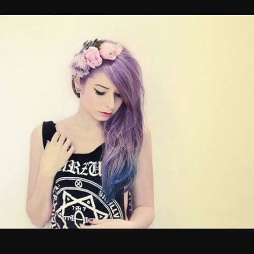 emo romantic hairstyle for girls long emo hairstyles for girls