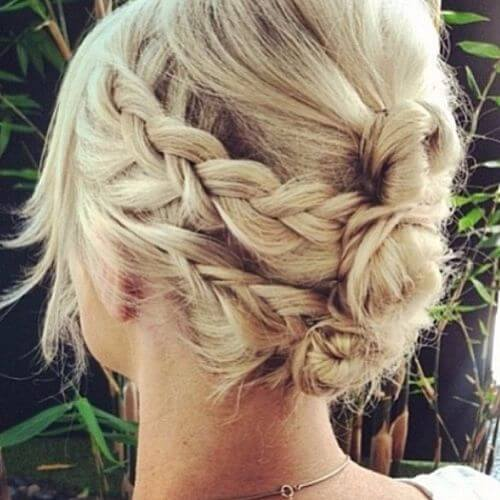 messy braided updo