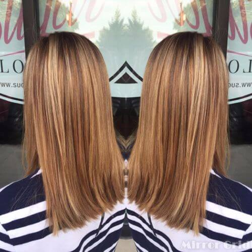 Caramel Blonde Highlights Light Brown Hair