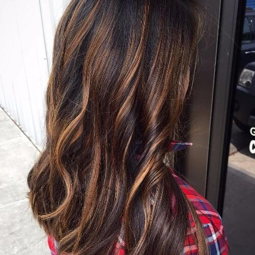 100 caramel highlights ideas for all hair colors caramel highlights on long wavy hair pmusecretfo Choice Image
