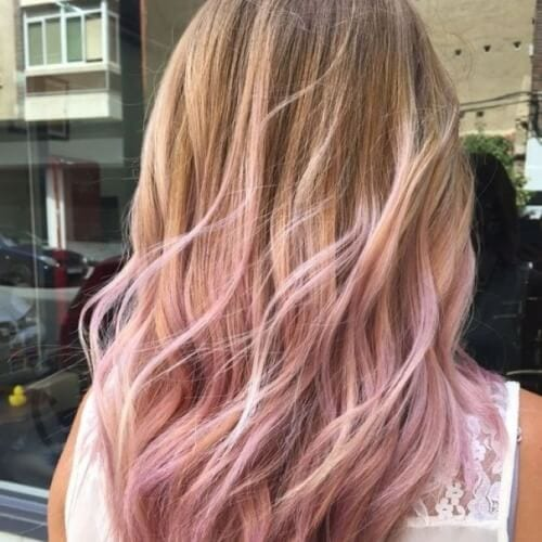 45 blonde highlights ideas for all hair types and colors honey highlights and pink tips pmusecretfo Choice Image