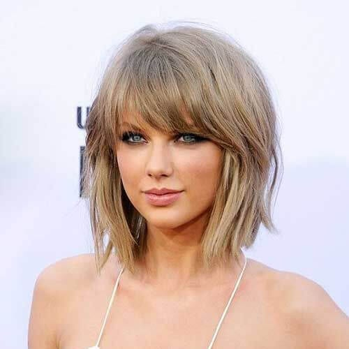 taylor swift short layered hairstyles
