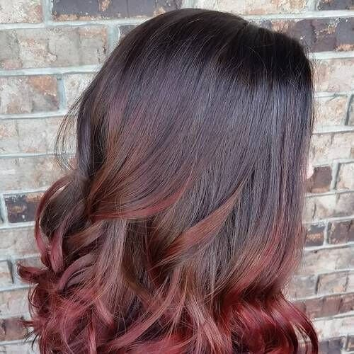 ombre burgundy hair