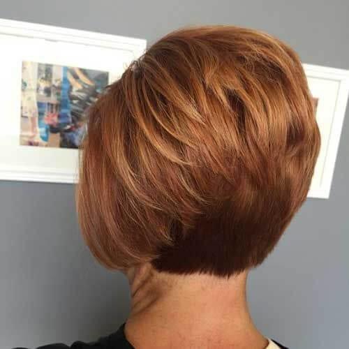 Auburn Stacked Bob Haircuts