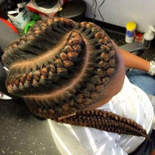 elaborate goddess braids