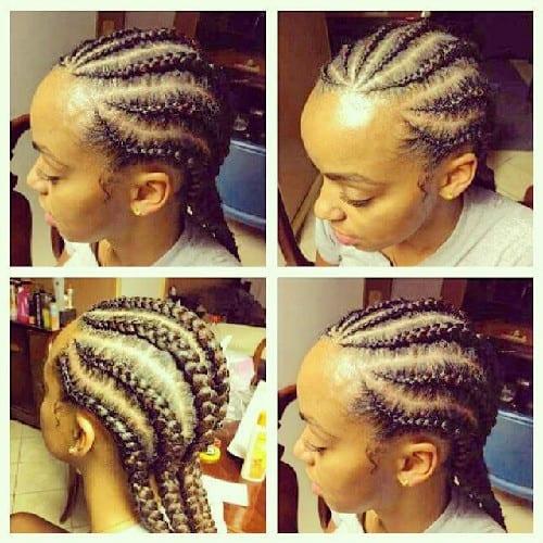 goddess braids and cornrows