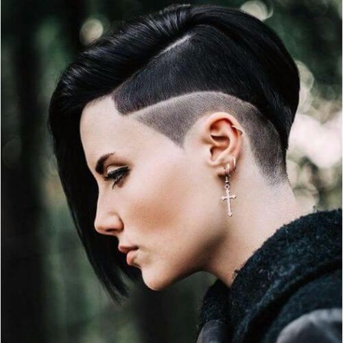 Edgy Goth Pixie Cut Novocom Top