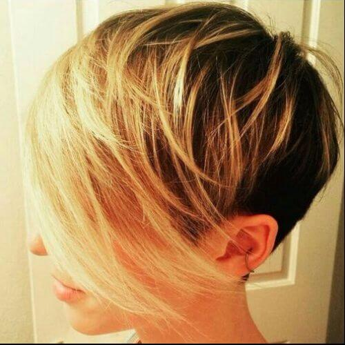 undercut blonde pixie cut