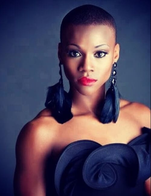 artistical short hairstyles for black women