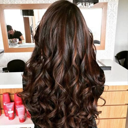 chocolate hairstyles for curly hair