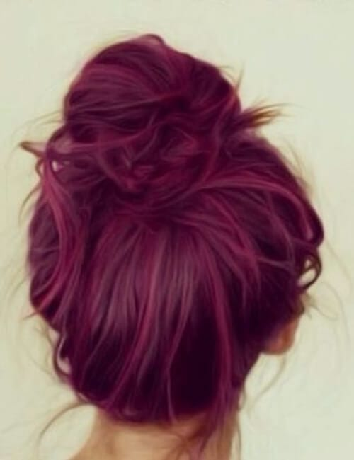 framboise shade of purple hair