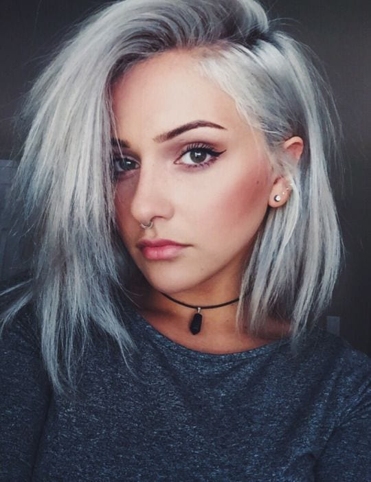 grey hair styles ideas