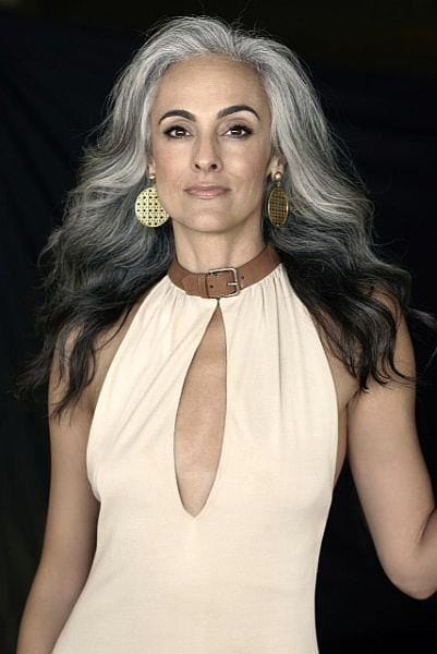 Mature women with gray hair