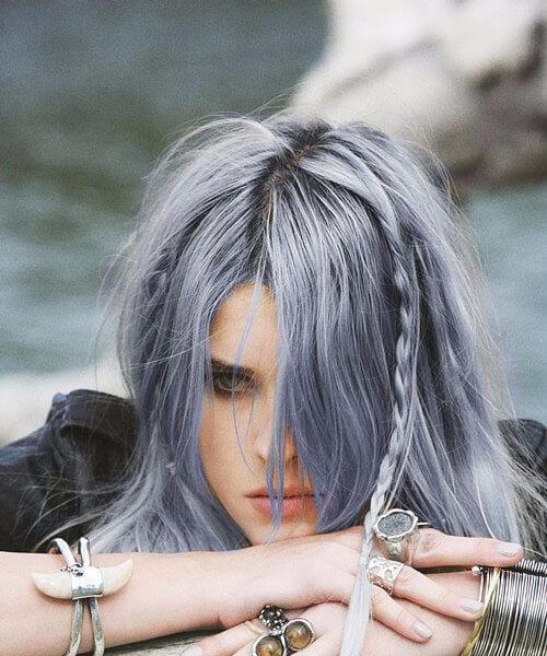 lilac lavender grey hair pastel