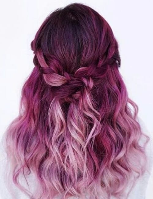 magenta shade of purple hair