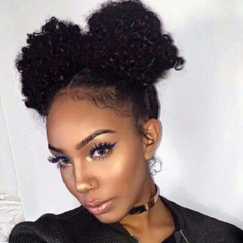 natural hairstyles for medium hair
