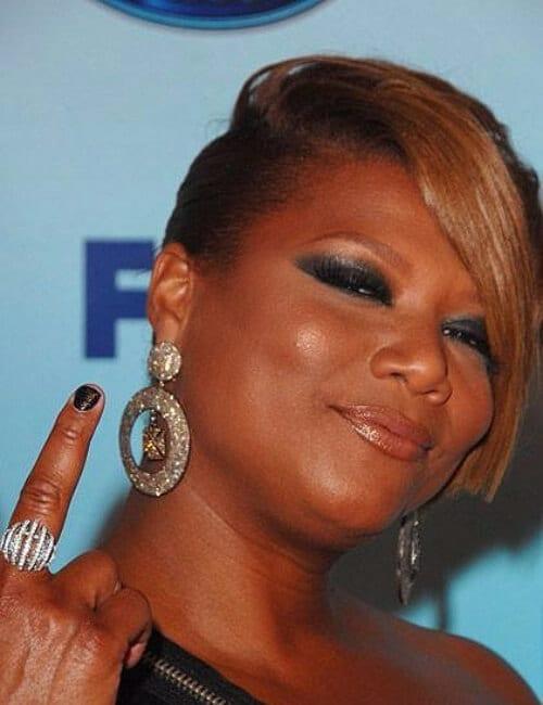 queen latifah short hairstyles for black women