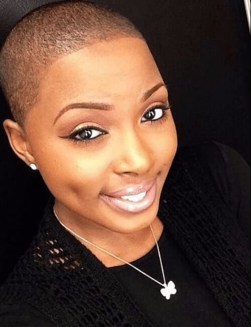 shaved short hairstyles for black women