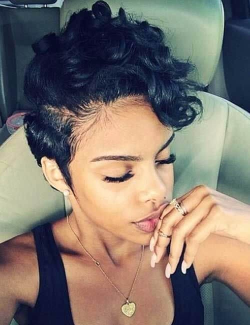 Short Hairstyles For Black Women With Bangs Page 1