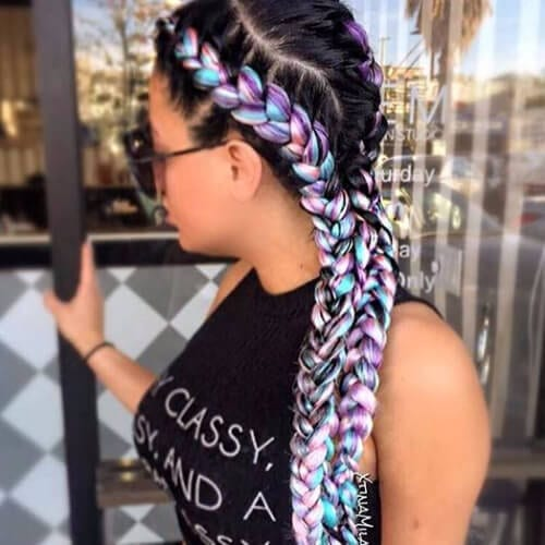 mermaid ghana braids